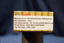 "Roundhouse Products 1261 50FT ""PLUG DOOR"" MECHANICAL REFRIGERATOR CAR"