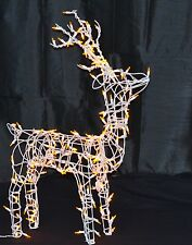 Wire Frame Reindeer Standing Buck LED Lighted Christmas Outdoor Decor