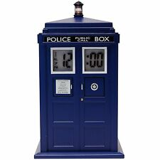 DR WHO FIGURE TARDIS PROJECTION ELECTRONIC ALARM CLOCK  DR190 LIGHT AND SOUND