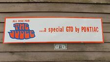 "NEW! CLASSIC 1970'S PONTIAC GTO ""THE JUDGE"" DEALER 3 COLOR SIGN/GARAGE ART1'X46"