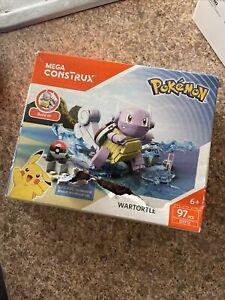 NEW Mega Construx Pokemon WARTORTLE 97 pcs Build It DYF12, Damaged Box