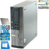 Cheap Dell Intel Core i5-2400 3.10GHzPC SFF DT Desktop Windows 10 500GB SSD 16GB