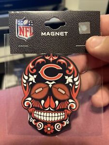 Chicago Bears Sugar Skull Magnet 2x3. NFL