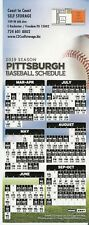 PITTSBURGH PIRATES 2019 MLB MAGNET SCHEDULE - FREE SHIPPING! PNC PARK