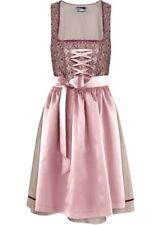 Dirndl Set 2 tlg. Trachtenkleid Gr. 44 naturstein rosa Kleid + Schürze