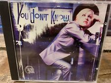 You Don't Know by Cyndi Lauper (CD, PROMO Single)