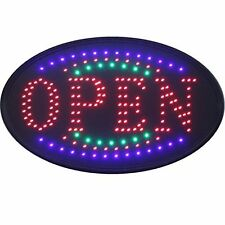 OPEN MIXT COLOURS LED SIGN FLASHING LEDS HANGING DISPLAY NEON POWERFUL ANIMATED
