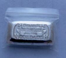 Rodebaugh ( Double Time ) 1 Ounce  Poured Bar Ingot  999 Fine Silver