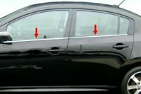 fit:2000-2006 Nissan Sentra Chrome 4Pc Window Sill Trim Overlay Stainless