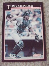 Terry Steinbach A's 1991 Score RARE BLANK BACK PROOF CARD hand-cut from sheet!