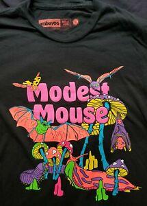 Modest Mouse Psychedelic Concert Shirt Large L 2018 tour bat mushroom blacklight