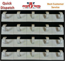 20 Self Adhesive Hooks White Plastic Strong Sticky Stick on Wall Door Hooks