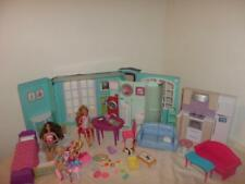 Barbie House Fold Out Furniture Coach Chelsea Skipper Accessories Bed LOT