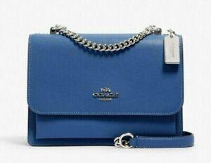 New Coach 91174 Klare Satchel handbag Leather Stone Blue