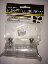 """Jt Straight Powerfeed Elbow 7/8"""" Adapter For Paintball Hopper - Clear New"""