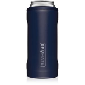 Brumate Hopsulator Slim Can Cooler Tumbler 12 oz Drink Holder Matte Navy Blue