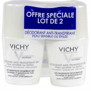 Vichy Deodorant Anti-Transpirant 48H For Sensitive Skin 2 x 50 ml