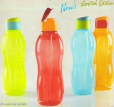 Tupperware 1 Litre Flip top ECO Aquasafe Water Bottles- Set of 2- Multi-color