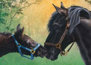 """""""HORSE MAJIK"""" BY Verdayle Forget. TREE-FREE GREETING CARD"""