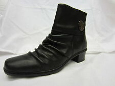 Rieker Zip Ankle Boots Synthetic Leather Shoes for Women
