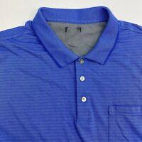 Van Heusen Polo Shirt Mens 4XL Blue Stripe Short Sleeve Casual
