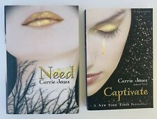 Lot 2 Need Series Carrie Jones Books 1 2 Captivate Pixies Young Adult HC PB