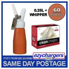 Red EZYWHIP Cream Whipper 0.5l & 50 Bulbs - Pure Nitrous Oxide N2o Chargers