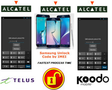 TELUS / KOODO UNLOCK CODE FOR ALCATEL PHONE ANY CANADIAN MODEL