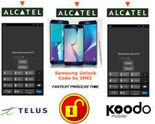 TELUS / KOODO UNLOCK CODE FOR ALCATEL PHONE ANY CANADIAN MODEL