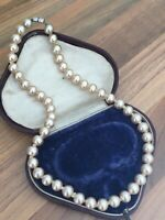 "Vintage 16"" Faux PEARL Single Strand NECKLACE Choker"