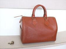 AUTHENTIC LOUIS VUITTON SPEEDY 25 Epi Brown Hand Bag No.883
