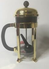 Bodum Chambord Stainless Steel French Press 34oz Coffee Maker - GOLD (NEW)