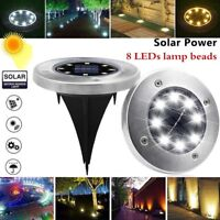 Solar Power Disk Lights LED Buried Light Outdoor Under Ground Lamp Waterproof