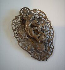 Costume Jewelry Ornate Cherub Clip Pin Brooch Broach