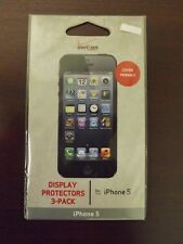 Brand New Verizon iPhone 5 Display Protectors 3-Pack MSRP $14.99 WTLC5TAS3PK