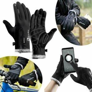 Bike Ski Gloves Winter Warm Anti-slip Touchable Gloves Waterproof Windproof V3Q9