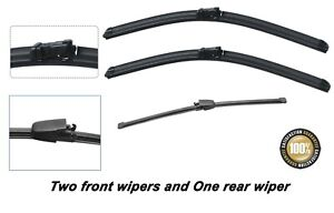 Volkswagen VW Polo 2006-2009 Brand New Front and Rear windscreen wiper blades