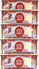 LOT Trinidad and Tobago 5 x 1 dollar 2006 (2014) P-New New Sign. UNC > Braille