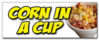 CORN IN A CUP DECAL sticker mexican street grilled elote vegetarian veg