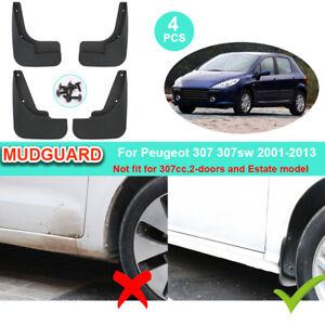 Car Mud Flaps For Peugeot 307 307sw 2001 - 2010 2011 2012 2013 Guards Mudguards