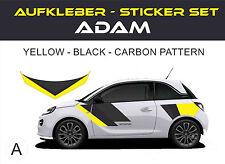 Opel ADAM aufkleber, adesivi, stickers set