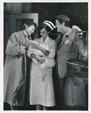 VIRGINIA MAYO Husband Newborn Baby Original CANDID Set Vintage 1953 Studio Photo