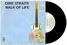 "DIRE STRAITS - WALK OF LIFE / ONE WORLD - RARE 7"" 45 VINYL RECORD PIC SLV 1985"