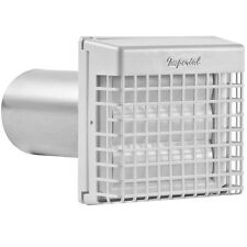 White Plastic Louvered Aluminum 4-in Dia x 10-in Duct with Guard Dryer Vent Hood