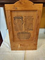 Vintage New Orleans Recipe Seafood Gumbo Jambalaya Red Beans Rice Wood Collect