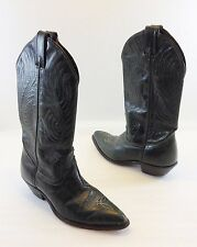 Code West Womens 6M Green Leather Cowboy Western Boots Made in USA