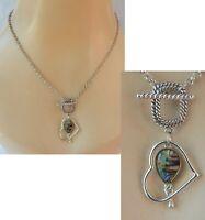 Heart Toggle Necklace Silver Pendant Chain Women Fashion NEW Love Charm