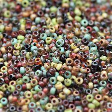Exclusive!!! 11/0 Forest Lake Picasso Mega Mix Miyuki seed beads - 20grams