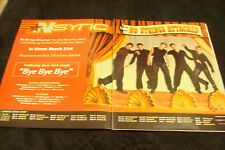 "NSYNC 2001 promo ad hanging on strings for hit ""Bye Bye Bye"" Justin Timberlake"