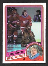 1984-85  OPC HOCKEY , # 65 , GREG STEFAN , DETROIT RED WINGS